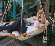Opal Hanging Lounger with Footrest