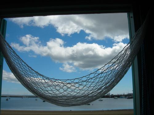 Stow-away hammock