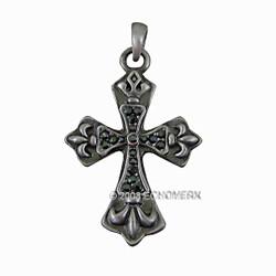 Pewter Fleur De Lis Cross Pendant