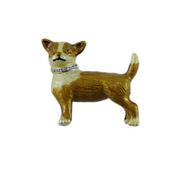 Brown Corgi Dog Brooch Pendant