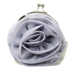 Rosette Evening Purse Gray