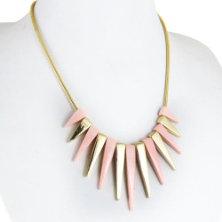 Spiked Necklace Pink