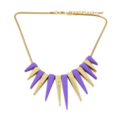 Spiked Necklace Purple