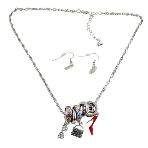 Charm Necklace Earrings Accessories Theme