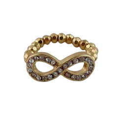 Infinity Stretch Ring Jeweled Gold