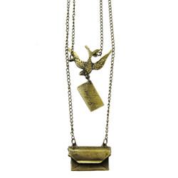 Vintage Love Letter Long Necklace