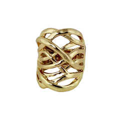Hammered Swirling Bands Ring Gold