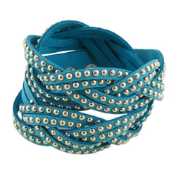 Stud Wrap Around Bracelet Baby Blue