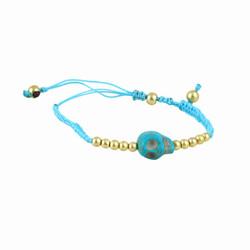 Rockabilly Skull Bracelet Turquoise
