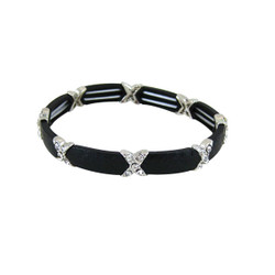 X Stretch Bracelet Designer Style Black
