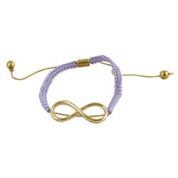 Infinity Charm Crochet Bracelet Lavender