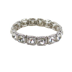 Majestic Jewels Crystal Bracelet Silver