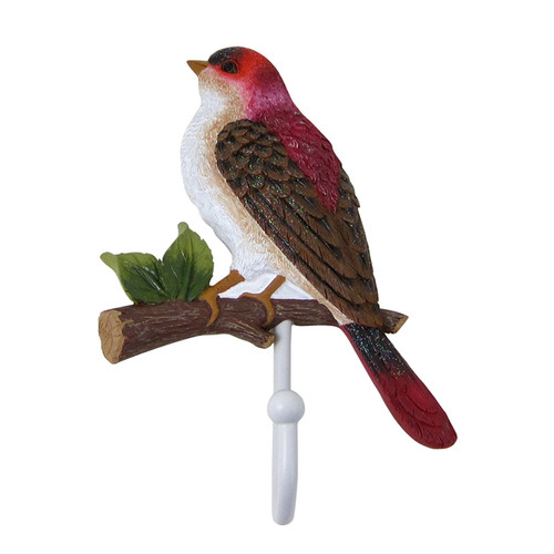 Red House Finch Bird Wall Hook