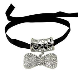 Crystal Scarf Charm Jewelry Bow Tie