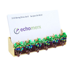 Grape Business Card Holder Gold