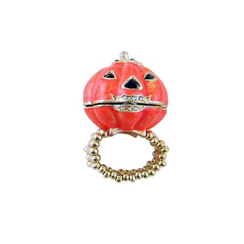 Keepsake Pumpkin Box Stretch Ring