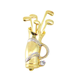 Golf Bag Pin Gold