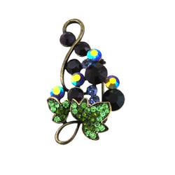 Vintage Grape Pin Bejeweled