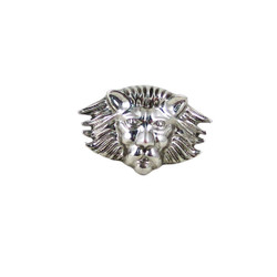 Rihanna Inspired Lion Head Stretch ring Silver Tone