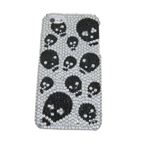 iPhone 5 Case Cover Skull Rhinestones Black