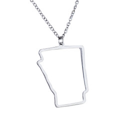 State of Arizona Necklace Silver