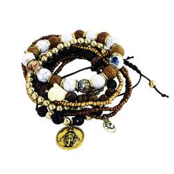 Coexist Beaded Bracelets Brown