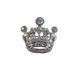 Vintage Style Crown Brooch