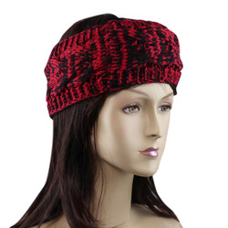 Braided Woven Headband Red