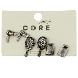 Stylist Earrings Studs Antique Silver