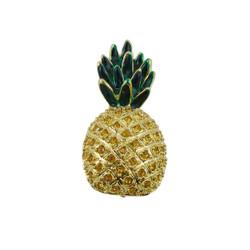 Pineapple Pin Pendant Jeweled