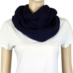 Classic Infinity Scarf Solid Color Blue