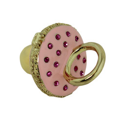 Pacifier Trinket Box BejeweledPink