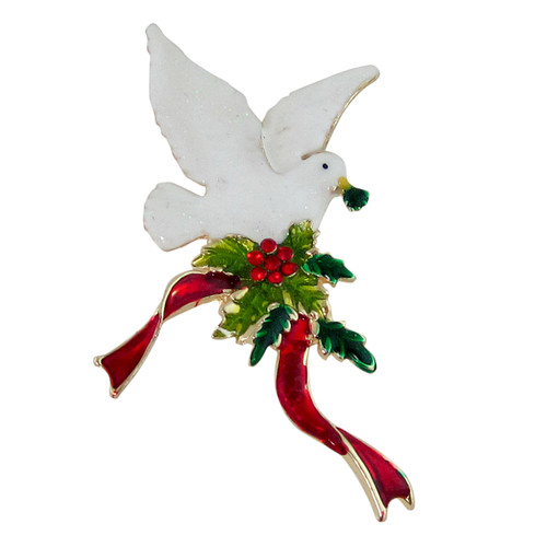Dove of Peace Brooch