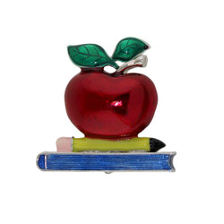 An Apple For The Teacher Brooch