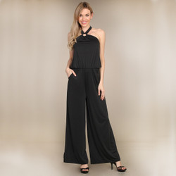 Black Jumpsuit Wide Leg