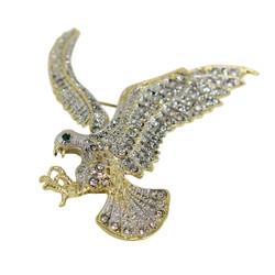 Crystal Eagle In Flight Brooch
