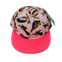 Beautiful Birds Vinyl Cap Neon Pink