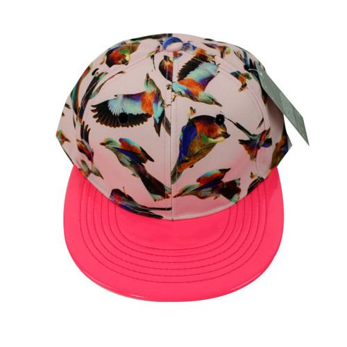 Beautiful Birds Vinyl Cap Neon Pink