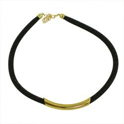 Diamond Illusion Necklace Black and Gold