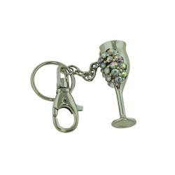 Goddess Goblet Key Chain Silver