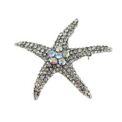Dazzling Crystal Starfish Brooch