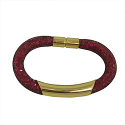 Diamond Illusion Bracelet Fuchsia and Gold