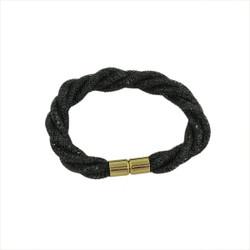 Twisted Diamond Illusion Bracelet Black and Gold
