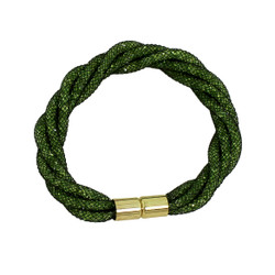 Twisted Diamond Illusion Bracelet Olive and Gold