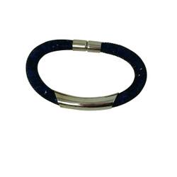 Diamond Illusion Bracelet Navy and Silver