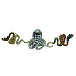 Snake and Cobra Adjustable Ring Set of 3