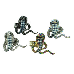 Cobra Adjustable Ring Set of 4
