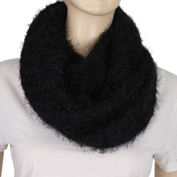 Soft and Silky Faux Fur Scarf Black