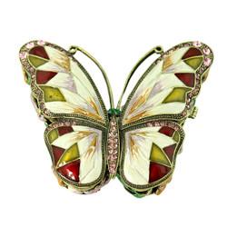 Large Morpho Butterfly Trinket Box Vintage Style