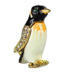 Penguin Trinket Box Bejeweled Miniature